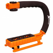 Opteka X-GRIP Professional Camera / Camcorder Action Stabilising Handle with Accessory Shoe for Flash, Mic, or Video Light