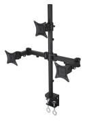Triple LCD Monitor Desk Mount Stand Heavy Duty & Fully Adjustable 3 Screens up to 70cm ~