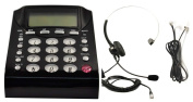 Work From Home Office Telephone Call Centre Dial Key Pad Phone + Headset Headphone with Mute Volume Control