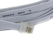 RiteAV - 30FT ( 9.1M ) RJ12/M to RJ12/M 6P6C Straight for Data Phone Line Cord - Grey