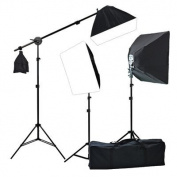 ePhoto Digital Photography Warm Film Video 3200K Lighting 2400 Watt THREE Softbox Lighting & Boom Hair 3200K Warm Light Kit H9004SB2 3200K