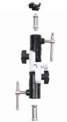Full aluminium OM-18 Pro Flash Hot Shoe Umbrella Holder adapter mount with Swivel/Tilt Bracket 3 section U shape for Nikon and Canon Speedlight 430EX 580EX SB600 SB800 SB900 Yongnuo YN560 YN568EX YN565EX
