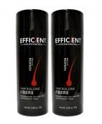 2 of EFFICIENT Keratin Hair Building Fibres, Hair Loss Concealer Net Wt. 28gm / 30ml
