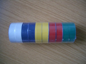 MULTI-COLOUR PVC ELECTRICAL INSULATION TAPE ROLL 19MM 10 PACK