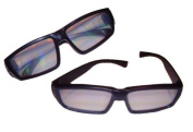 Fireworks Diffraction Viewing Glasses with DURABLE Plastic Frames - 2 pair - For Raves, Laser Shows, Holiday Lights