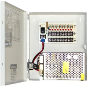 GW Security 9 Port 12-Volt 10 Amp DC Distributed with PTC Fused Power Box for Security Camera