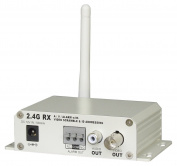Cop Security 15-2400VRS Wireless Receiver 2.4 GHz 4-Channel Single-Scan Scramble with Power Supply