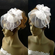 Bridal Birdcage Veil Bridal Hat with Crystal
