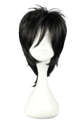CosplayWIN Shiki Layered Black Wig Cosplay Costume Hair