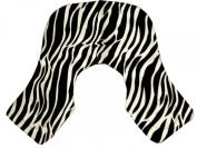 ZZZRT White Zebra Print barber Hairdressing Collar Extra Long