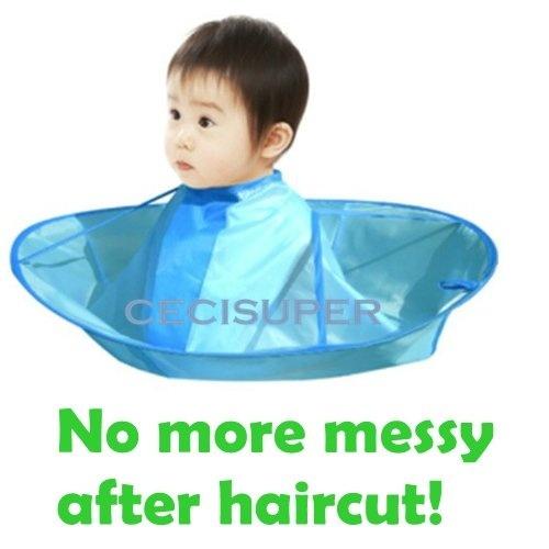 Kids Children Haircut Haircutting Hair Cut Catcher Apron Cape