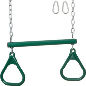 Trapeze Bar with Rings and Uncoated Chain
