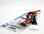Xtenzi RCA Cord Assembly Harness Audio Video For Pioneer AVIC X850BT AVIC X8510BT AVIC X950BH AVIC Z150BH
