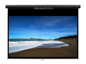Monoprice Manual Projection Screen w/ Slow Retraction Mechanism - Matte White Fabric