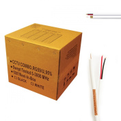 UL Litsted RG59 Siamese 150m Coaxial CCTV Cable - Combo 20 AWG Solid Copper RG59 + 18/2 18AWG Power