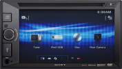 Sony XAV65 Video Receiver with Double DIN 16cm WVGA Touch Screen Display