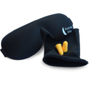 Premium Best Contoured, Comfortable Luxury Black Eye Mask for Sleeping from Bedtime Bliss. The Cover Blocks Out Light to Help you Sleep Better at Night, Take a Nap, Or For Any Kind Of Travel. Perfect for Both Men and Women. Excellent Quality & Comfort ..