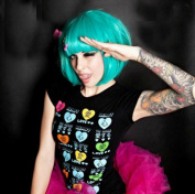 MapofBeauty Cyan Short Straight Cosplay Costume Wig BOB Wig