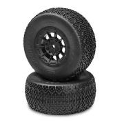 3D SC Tyre, Green, Hazard 12mm Blk Wheel:SCT-E