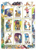 Classic Pinocchio stamps for collectors - 9 mint stamps - 1998 / Niger / 200F