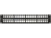 2U High-Density Blank Patch Panel - 48 Port