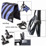 Sandbags Accessory Kit Photo Clamps Clips hook and loop Cable Ties Steve kaeser Photographic Lighting