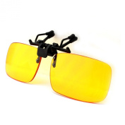 Duco Clip on Rimless Ergonomic Advanced Computer Glasses with Yellow Lens for Myopia8010