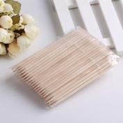 WAWO 100 x Nail Art Orange Wood Stick Cuticle Pusher Remover