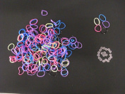 "Polka Dot Colour Rainbow Rubber Loom Rainbow Bands 3000 Pieces with 120 ""S"" Clips"