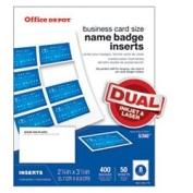 Office Depot(R) Brand Badge Inserts, 5.7cm . X 8.9cm ., White, Pack Of 400
