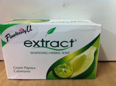 Extract Whitening Herbal Soap Green Papaya Calamansi 135g