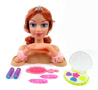 hair styling online fashion princess styling doll with hair and compact 4755 | 6