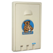Standard Recessed Vertical Baby Changing Station, Cream