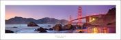 Award Winning Panoramic Art Print Poster #3 - San Francisco Golden Gate Bridge Sunset