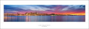 Award Winning Panoramic Art Print Poster #4- San Francisco Sunset, Golden Gate Bridge Panoramic (Panorama) Art Print Poster
