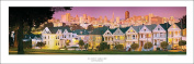 San Francisco's Postcard Row at Alamo Square Park Panorama Art Print Poster