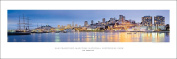San Francisco Golden Gate | Maritime Historical Park | Ghirardelli Square Panoramic Art Print Poster