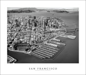 San Francisco Golden Gate Bridge | Aerial Photography (Black and White) #11 Art Print Poster