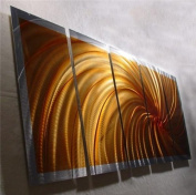 Wow - 160cm x 60cm Original Abstract Metal Painting Wall Art and Sculpture by Nider Internationally Acclaimed Artist of Contemporary Abstract Art for Home or Office Decor with a Modern Feng Shui influence
