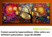 Special Life - ytg0029 - Modern Abstract Oil Painting on Canvas Stretched Framed with Wooden Frame - Return shipping covered for continental US regions