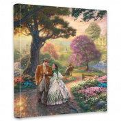Thomas Kinkade Gone With the Wind 14x 53lery Canvas Wrap