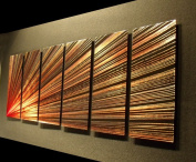 Pulsar left - 160cm x 60cm Abstract Painting Metal Wall Art by Nider the Internationally Acclaimed Artist of Modern Contemporary Decor Artwork