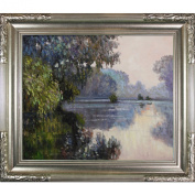 overstockArt Claude Monet Morning on The Seine Near Giverny 50cm by 60cm Framed Oil on Canvas