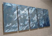 Frost - 160cm x 60cm Abstract Painting Metal Wall Art by Nider the Internationally Acclaimed Artist of Modern Contemporary Decor Artwork