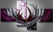 4 Pics Abstract Modern 100% Hand Painted Oil Painting on Canvas Wall Art Deco Home Decoration