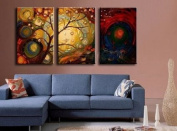 ElleWeiDeco modern Oil Painting on Canvas Stretched - Earth