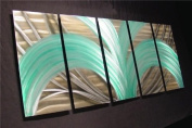 Palm Tree - 160cm x 60cm Abstract Painting Metal Wall Art by Nider the Internationally Acclaimed Artist of Modern Contemporary Decor Artwork