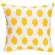 Sweet Potato by Glenna Jean, Swizzle Yellow Pillow - Yellow Dot