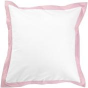 New Arrivals White Pique Eurosham - White/ Pink