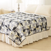 Ashley Cooper Plymouth Star Print Quilt in Queen Size